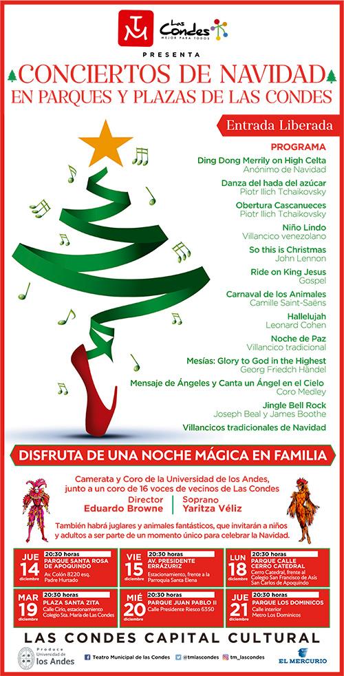 Las Condes presenta Conciertos de Navidad en Parques y Plazas