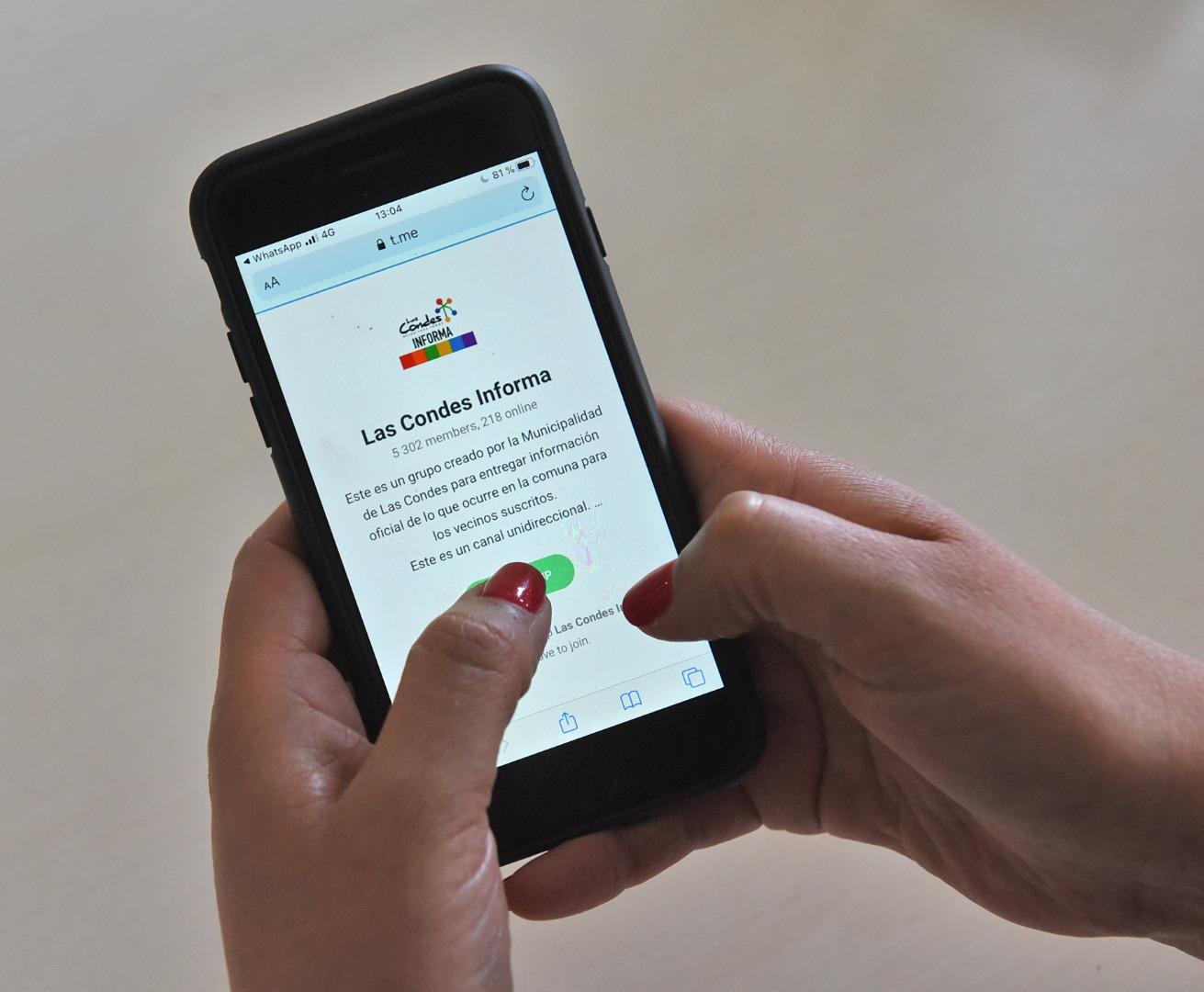 Las Condes informa a través de App Telegram