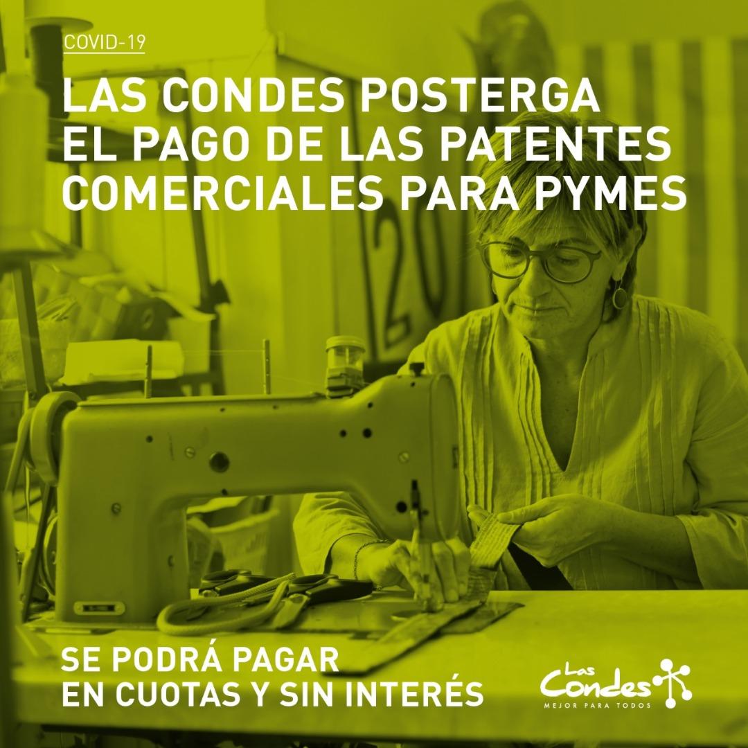 Postergación pago patentes comerciales
