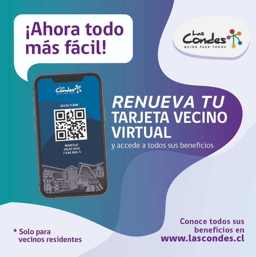 Renueva tu tarjeta vecino de Las Condes