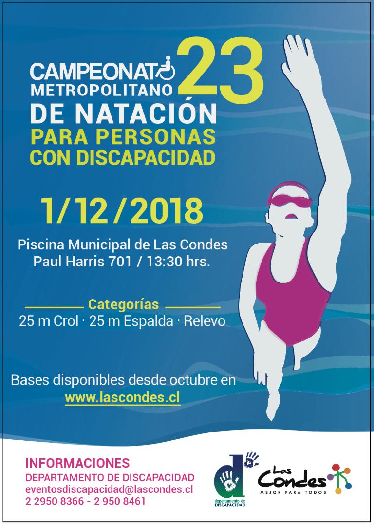 Afiche Campeonato Metropolitano de Natación