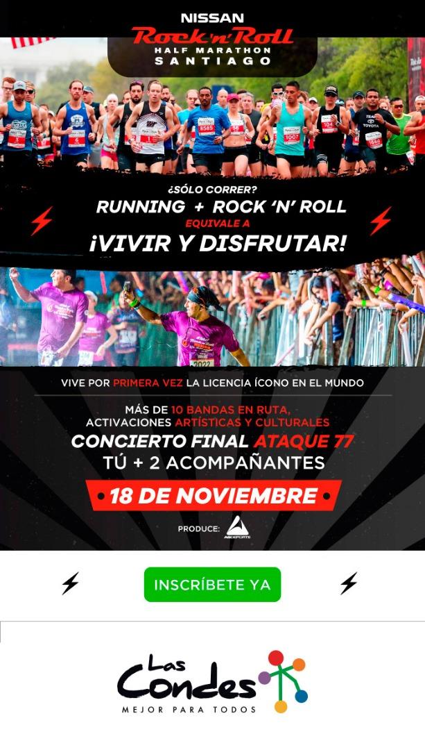 Nissan Rock'n'Roll Half Marathon Santiago 2018