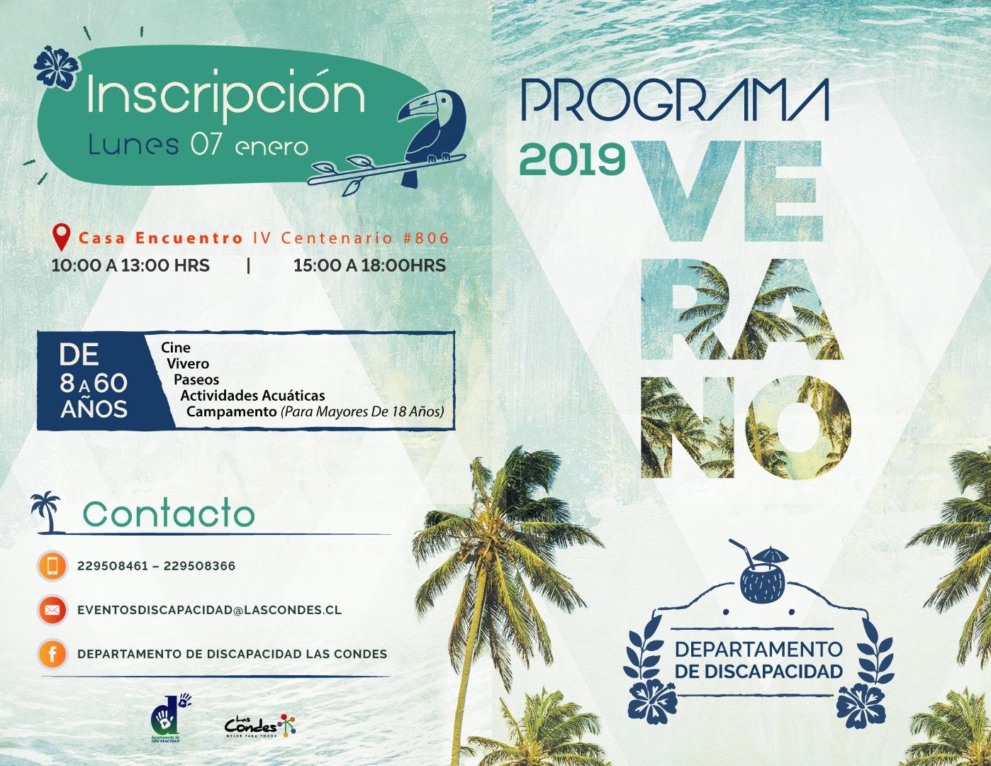 Programa verano 2019