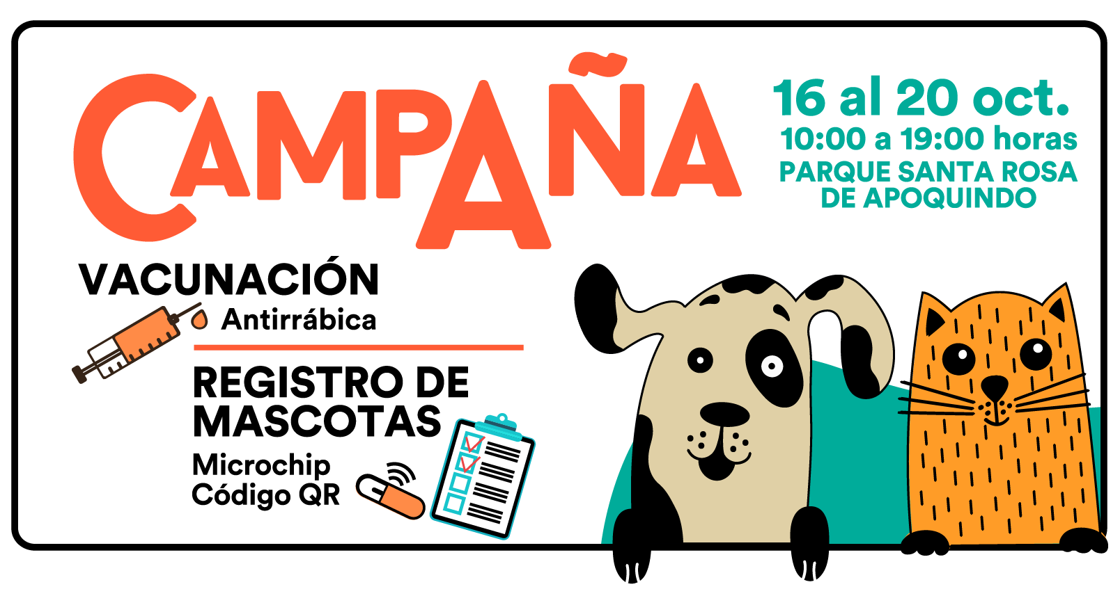 Campaña anual de vacunación de mascotas.
