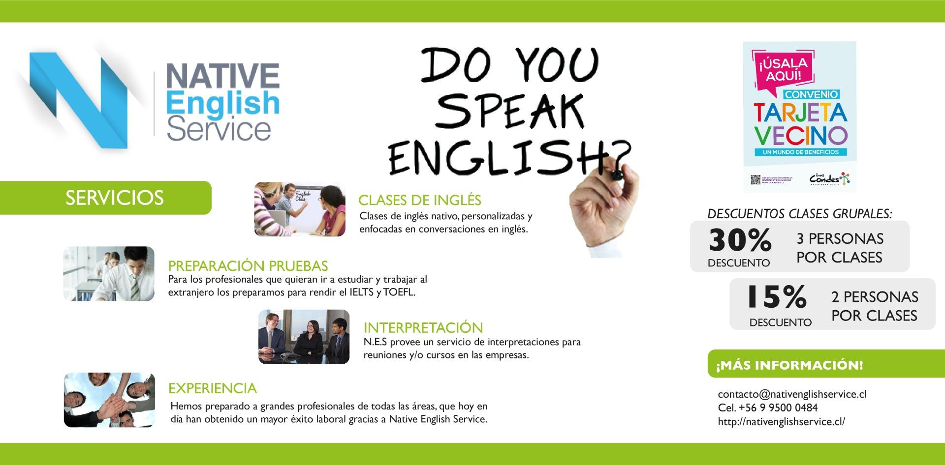 NATIVE ENGLISH SERVICE PROMO