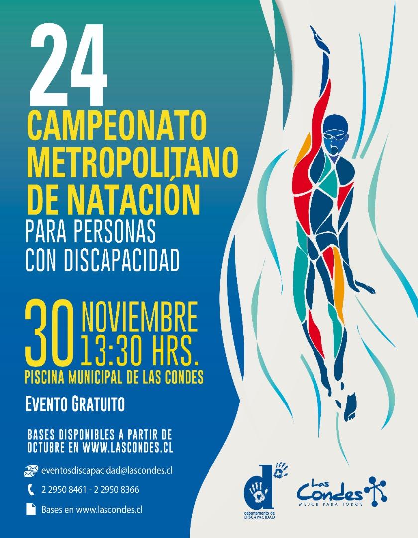 24 Campeonato Metropolitano de Natación para personas con discapacidad